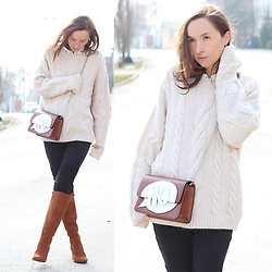 Iva K - Zara Bag, H&M Sweater, Lazzarini Boots - Casual