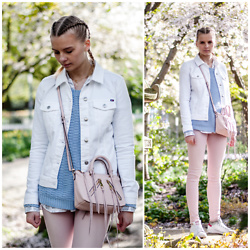 Ruth Pie - Tommy Hilfiger Denim Jacket, C&A Sweater, Rebecca Minkoff Bag, Diesel Pants, Adidas Stan Smith - Colours of Spring