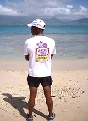 Thomas G - Race Ready Lanikai Juice Running Club, Avia Running Shoes, Nike Dri Fit Hat, Good Luck Beads, Marine Corps Base Hawaii, Kaneohe Bay, Asics Running Shorts - Beautiful Oahu!