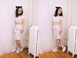 Lovely Blasphemy - Dresslink Fashion Crop Top, Liz Lisa X Yui Kanno Un Deux Trois Ballet Platforms, Yesstyle Sunglasses - You can never be overdressed or overeducated