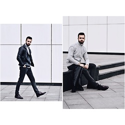 Baris Sabic - New Yorker Jacket, Bershka Pants, Bershka Turtleneck Sweater, Andre Shoes - Keepitsimple.