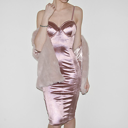 Tia Mcintosh -  - Satin Blush Dress
