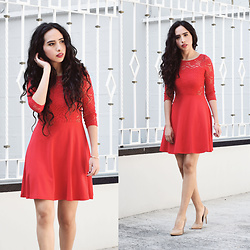 Attalia DASBEL - H&M Lace Dress, Steve Madden Heels - ON VALENTINE'S DAY