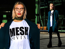 Milex X - Mesh Divide Tee, Move Baby Vintage Jacket, Open Your Dolls Please Choker, Topshop Pants, Buffalo Platforms - BREATHE ON ME