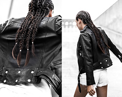 Kristina - Allsaints Leather Biker Jacket - Leather biker portraits