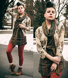 Carolyn W - Anthropologie Maps, Anthropologie Sweater, Rust, Free People Wool, Target Red Laces - Around the World