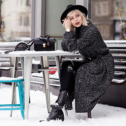 Masha Sedgwick - Saint Laurent Bag, Moschino Boots - The Oversized Coat