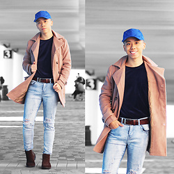 Daniel Poon - Sammydress Baseball Cap, Gamiss Coat, Sammydress Belts, Sammydress Jeans - How To Style Baseball Cap This Winter
