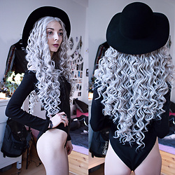 Kimi Peri - H&M Witchy Hat, Asos Shoulder Cutout Body, Powder Room D Silver Glitter Hair - Goddess Of The Moonstones