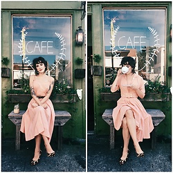 Kiana Mc - Vintage Dress, Coach Shoes - Peachy