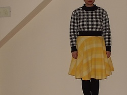 Selina - Yesstyle Cropped Jumper, Self Made Checked Skirt - Are we strangers in the night?