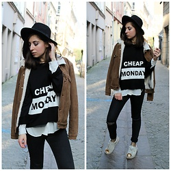 Elo' Cupcake - Cheap Monday Sweater, H&M Jeans, Puma Sneakers, Hat - Over my dead body