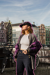 Rachel Ecclestone - Nike Puffer Jacket, Scotch & Soda High Waisted Trousers, Scotch & Soda Kimono - Amsterdam