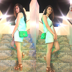 Nadine Julian - Michael Kors Sling Bag, Charriol Rose Gold Bangle, Blush Mint Dress - Mint Chocolate Chip