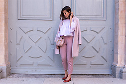 Margot Guilbert - Pink Trousers, Peplum Top - Pink & Ethic - The Pastel Project