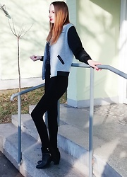 Jasmina Dimitri - Dresslilly Jacket, H&M Boots - College Girl