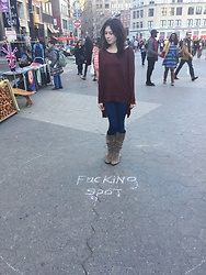 Alien K - Free People Sweater, Rag & Bone Jeans, Nordstrom Boots - The square