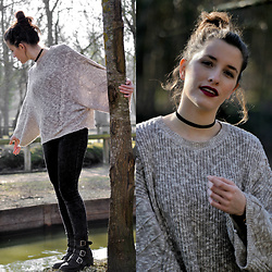 Coralie - Mango Pull Over, Jennyer Jean, Pimkie Boots, Claire's Choker - Le pull oversize