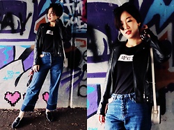 Yueming - Topshop Scarf, Michael Kors Mule Shoes, Pull & Bear Tshirt - Cool Girl