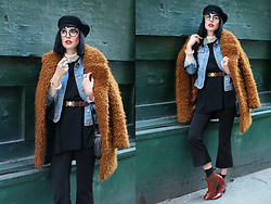 Amy Roiland - H&M Fur Coat - Fur and Denim