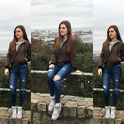 Lissey ♥ - Shein Bomber Jacket, Cropp Jeansy, Adidas Sneakers - SheIn | Bomber jacket #1