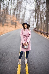 Ralizabeth Orellana - H&M Hat, Shein Coat, Forever 21 Booties - Blushing in Pink