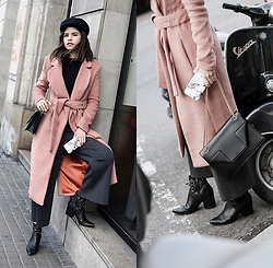 Adriana Gastélum - Lavish Alice Coat, Saint Laurent Betty Bag, Sigerson Morrison Booties, More Details And Outfits On - Pretty in Pink