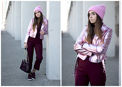 Bárbara Marques - Bershka Jacket, Zara Culottes, Uterque Bag, Lacoste Sneakers, Primark Beanie - CHALLENGING