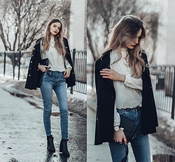 Mary Volkova - Blouse - Blue Jeans White Blouse