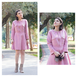 Emel Acar - Metisu Dress - Ladylike Suede Dress