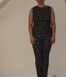 Selina - Self Made Heart Print Jumpsuit - Know when you're around, I can hear the sound of your heart