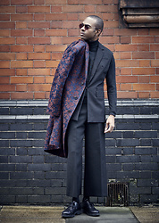 Martell Campbell - Yohji Yamamoto Eyewear, Our Legacy Floral Coat, Paul Smith Cut Out Derby Shoes - Ready The Weekend