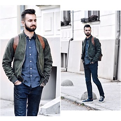 Baris Sabic - Pull & Bear Jacket, Springfield Shirt, Pull & Bear Pants, Springfield Shoes, Bershka Backpack - Bomber