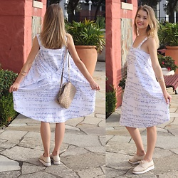 Heidi Landford - Alpha 60 Embroidered Dress, Wittner Woven Flatforms, Michael Kors Tan Quilted Shoulder Bag, Marc By Jacobs Bangles - When Comfort's What You Need