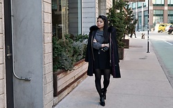 Josephine Ellen - Zara Sweater, Zara Coat, Sam Edelman Booties, Astr Skirt - Wintry Days