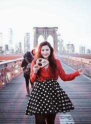 Noelle Downing -  - Walking the Brooklyn bridge