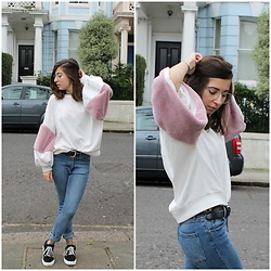 Elo' Cupcake - Zara Puff Sleeves Sweater, Cheap Monday Jeans, Vans Sneakers - Notting Hill