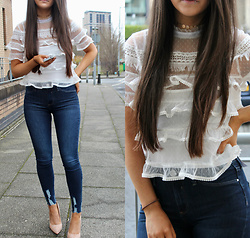 Terri L - River Island Top, River Island Jeans - THE GIRLY LOOK