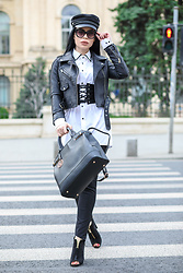 Laura Veronica - H&M Hat, Eva's Lab Shirt, Abi Design Belt, Adona Bag - Street style