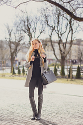 Aleksandra D - Lightinthebox Coat, Kurt Geiger Shoes, Michael Kors Bag, Zara Turtleneck - My Classic Coat - LightInTheBox.com