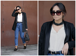 Bárbara Marques - Suiteblanco Blazer, Primark Shirt, Primark Belt, Zara Jeans, Uterque Loafers, Michael Kors Bag, Tom Ford Sunglasses, S&S Madeira Necklace - NO!