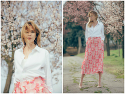 Anastasiia Masiutkina - Nadya Dzyak Skirt, Handmade Shirt - Beauty of spring at Piemonte
