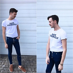 Bartek Piekara - Zara T Shirt, Rage Age Jeans, Pull & Bear Shoes - M.I.A. -Bird song