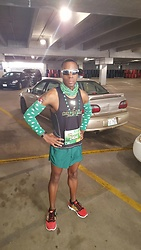 Thomas G - Puma Second Sole Racing, Puma Running Shorts, Skechers Go Run Ride 2, Party City Clover Arm Warmers, Get Lucky Neck Gaiter, Clover Beads, Get Lucky 7k/14k/21k Road Race - Feeling lucky