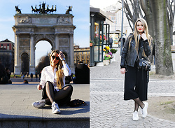 Natalia Romashko - Anja Rubik For Mohito Shirt, Daniel Wellington Watch, Izipizi Sunglasses, Massimo Dutti Pants, Adidas Stan Smith Sneakers, Jean Paul Gaultier For Lindex Jacket, Rebecca Minkoff Bag - TIME FLIES WHEN YOU'RE HAVING FUN