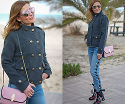 Vale ♥ -  - Army jacket and eyelet jeans