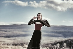 Laura Gal - Zara Transparent Top, Burgundy Body, Terranova Long Skirt - The Spot
