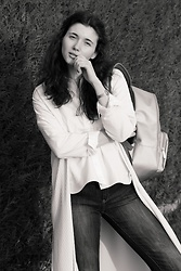 Marie Christin P. - Bree Backpack, Zara White Blouse, Warehouse Cardigan, Calvin Klein Watch, Mango Jeans - Let's Go!