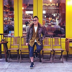 Mannix Lo - H&M Knit Cardigan, Undercover Patchwork Pants, Nike Flyknit Epic Sneakers - It's Coffee Time