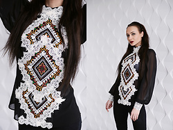 Ksenia Murashka - Murashka Design Blouse - Elegant chiffon blouse with embroidery